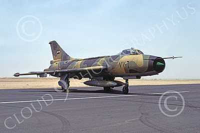 Sukhoi Su-7 Fitter 00001 A static brown Egyptian Air Force Sukhoi Su-7 Fitter jet fighter, 51981, by Ted W Van Geffen