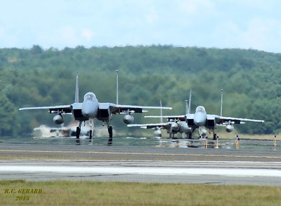 F-15 Eagles of the 104th Fighter Wing Massachusetts Air National Guard