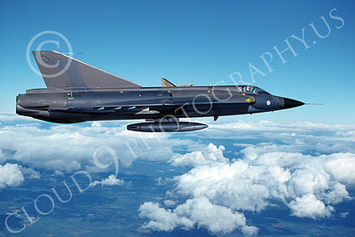 SAAB Draken 00004 A flying SAAB Draken 355 Finnish Air Force 6-1994 military airplane picture by Jyrki Laukkanen
