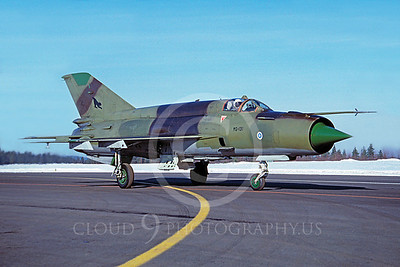 Mikoyan-Guryevich MiG-21 Fishbed 00019 Mikoyan-Guryevich MiG-21 Fishbed Finnish Air Force MG-131 via African Aviation Slide Service