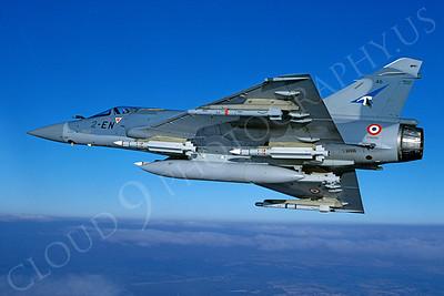 Dassault Mirage 2000 00022 Dassault Mirage 2000 French Air Force 2-EN February 2000 via African Aviation Slide Service