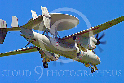 E-2Forg 00018 Grumman E-2 Hawkeye French Navy military airplane picture by Stephen W D Wolf