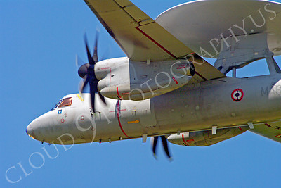 E-2Forg 00020 Grumman E-2 Hawkeye French Navy military airplane picture by Stephen W D Wolf