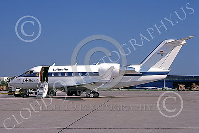 Canadair Challenger 00021 A static Canadair Challenger German Air Force 12 04 7-1987 military airplane picture by Jon Gerber