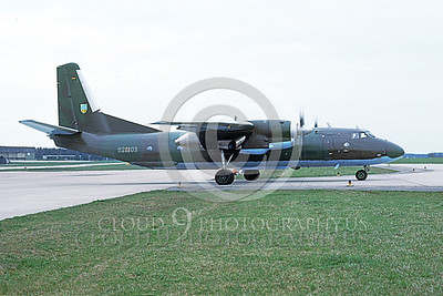 An-26 00007 A taxing Antonov An-26 Curl German Air Force 4-1991 military airplane picture by W Greppmeir