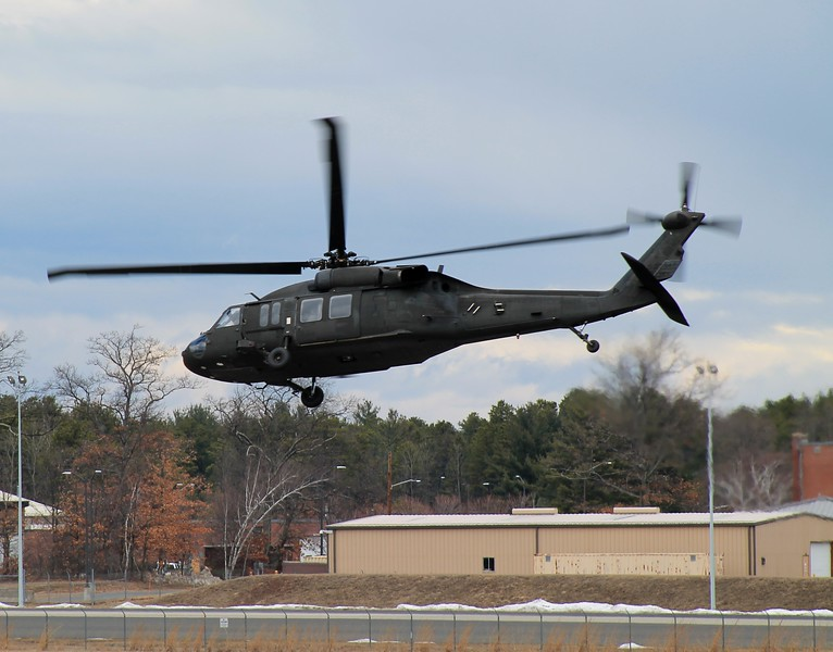 Massachusetts National Guard H60 at Barnes Municipal Airport - 05 April 2014
