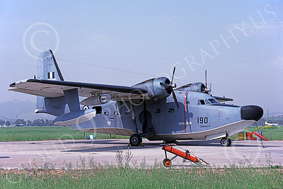 HU-16Forg 00007 A static Grumman HU-16D Albatross Hellenic Air Force 4-1996 military airplane picture by Keith Preachers