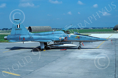 F-5Forg 00059 Northrop F-5E Freedom Fighter Hellenic Air Force 38405 April 1996 via African Aviation Slide Service