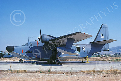 HU-16Forg 00011 A static Grumman HU-16D Albatross Hellenic Air Force 17203 10-1990 military airplane picture by Patrick Roek