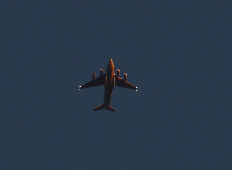 C-17 at sunset