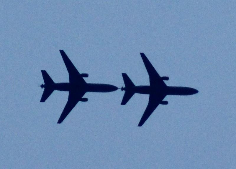 KC-10s conducting random Air Refueling