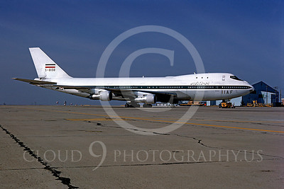 Boeing 747-MF 00001 Boeing 747 Iranian Air Force 5-8108 McGuire AFB March 1977 by Peter J Mancus
