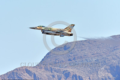 F-16-Israeli 0012 A flying Lockheed Martin F-16 Fighting Falcon Israeli Air Force jet fighter 432 at a Nellis AFB Red Flag exercise 8-2016 military airplane picture by Peter J  Mancus