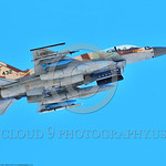 F-16-Israeli 0034 A flying Lockheed Martin F-16 Fighting Falcon Israeli Air Force 432 jet fighter with bombs during a Nellis AFB 8-2016 Red Flag exercise military airplane picture by Peter J ...