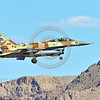 F-16-Israeli 0040 A Lockheed Martin F-16 Fighting Falcon Israeli Air Force 466 jet fighter landing at Nellis AFB during a 8-2016 Red Flag exercise military airplane picture by Peter J  Mancus