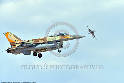 F-16-Israeli 0018 A landing Lockheed Martin F-16 Fighting Falcon Israeli Air Force jet fighter 881 during a Nellis AFB Red Flag exercise 8-2016 military airplane picture by Peter J  Mancus