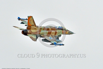 F-16-Israeli 0020 A flying Lockheed Martin F-16 Fighting Falcon Israeli Air Force jet fighter 896 during a Nellis AFB Red Flag exercise 8-2016 military airplane picture by Peter J  Mancus