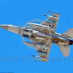 F-16-Israeli 0036 A flying Lockheed Martin F-16 Fighting Falcon Israeli Air Force jet fighter with bombs during a Nellis AFB 8-2016 Red Flag exercise military airplane picture by Peter J  Ma ...