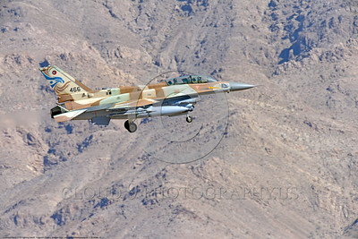 F-16-Israeli 0016 A landing Lockheed Martin F-16 Fighting Falcon Israeli Air Force jet fighter 466 during a Nellis AFB Red Flag exercise 8-2016 military airplane picture by Peter J  Mancus