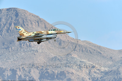 F-16-Israeli 0050 A Lockheed Martin F-16 Fighting Falcon Israeli Air Force 466 jet fighter landing at Nellis AFB 8-2016 during a Red Flag exercise military airplane picture by Peter J  Mancus