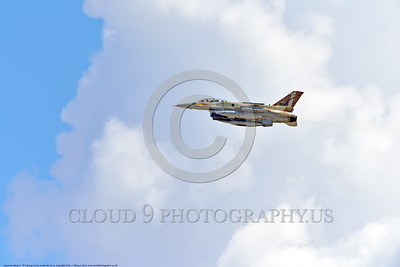 F-16-Israeli 0066 A flying Lockheed Martin F-16 Fighting Falcon Israeli Air Force 868 jet fighter during a Nellis AFB 8-2016 Red Flag exercise military airplane picture by Peter J  Mancus