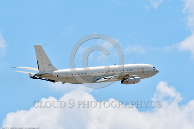 KC-707-Israeli 0002 A flying Boeing KC-707 Israeli Air Force 275 during a Nellis AFB Red Flag exercise 8-2016 military airplane picture by Peter J  Mancus