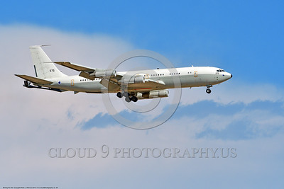 KC-707-Israeli 0028 A landing Boeing KC-707 Israeli Air Force 275 during a Nellis AFB Red Flag exercise 8-2016 military airplane picture by Peter J  Mancus