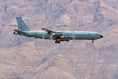 KC-707-Israeli 0018 A landing Boeing KC-707 Israeli Air Force 264 during a Nellis AFB Red Flag exercise 8-2016 military airplane picture by Peter J  Mancus