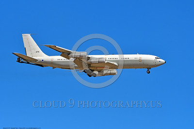 KC-707-Israeli 0010 A landing Boeing KC-707 Israeli Air Force 275 during a Nellis AFB Red Flag exercise 8-2016 military airplane picture by Peter J  Mancus