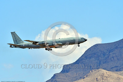 KC-707-Israeli 0002 A landing Boeing KC-707 Israeli Air Force 264 during a Nellis AFB Red Flag exercise 8-2016 military airplane picture by Peter J  Mancus