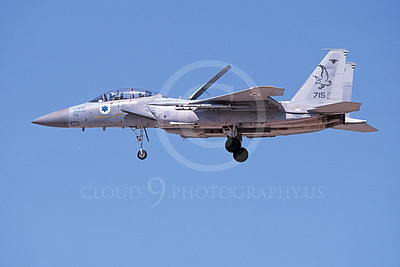 F-15Forg 00028 A landing two seat McDonnell Douglas F-15 Eagle Israeli Air Force 733 9-2002, airplane picture, by Michael Grove, Sr