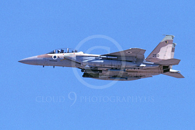 F-15Forg 00064 A flying two seat Israeli Air Force McDonnell Douglas F-15 Eagle jet fighter 250 9-2002, airplane picture, by Michael Grove, Sr