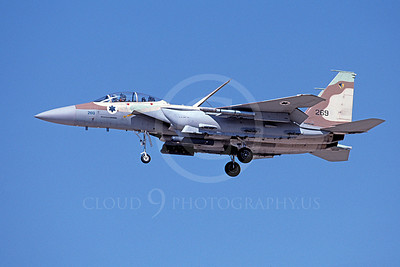 F-15Forg 00066 A flying two seat Israeli Air Force McDonnell Douglas F-15 Eagle jet fighter 269 9-2002, airplane picture, by Michael Grove, Sr