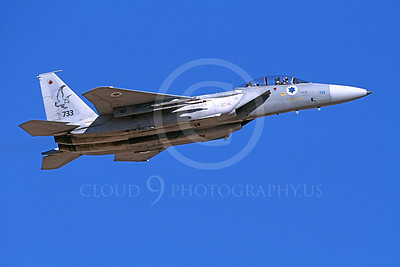 F-15Forg 00026 A flying two seat McDonnell Douglas F-15 Eagle Israeli Air Force 733 9-2002 airplane picture, by Michael Grove, Sr
