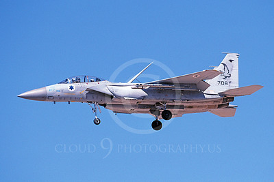 F-15Forg 00050 A landing two seat Israeli Air Force McDonnell Douglas F-15 Eagle jet fighter 706 9-2002, airplane picture, by Michael Grove, Sr