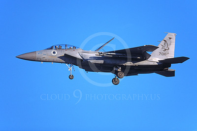 F-15Forg 00042 A landing two seat Israeli Air Force McDonnell Douglas F-15 Eagle jet fighter 706 9-2002, airplane picture, by Michael Grove, Sr