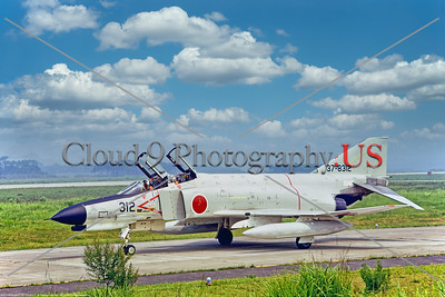 F-4II-Japan 001 A McDonnell Douglas F-4EJ Phantom II, JASDF jet fighter, 37-8312, taxing at Hyakuri AB 1982, military airplane picture by Stephen W  D  Wolf      BBB_9707     Dt