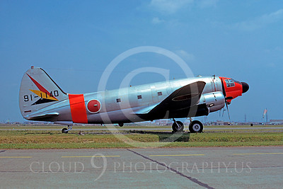 C-46Forg 00001 Curtiss EC-46D Commando Japanese Self Defense Force 91-1140 Iruma 2 May 1975 by Matsumi Wada