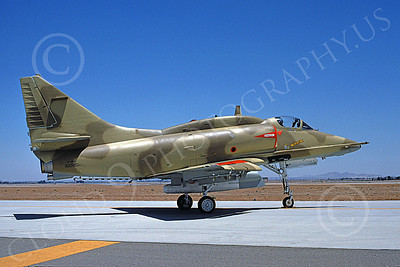 A-4Forg 00023 A static Kuwait Air Force Douglas A-4KU Skyhawk attack jet, 160180, military airplane picture, by Michael Grove, Sr