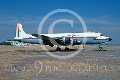 C-118Forg 00007 Douglas C-118 Skymaster Mexican Air Force 10018 February 2000 via African Aviation Slide Service