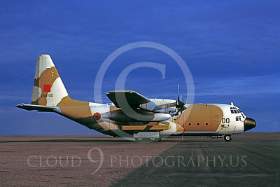 C-130Forg 00035 Lockheed C-130 Hercules Morrocan Air Force CNA-00 January 1983 Phoenix by Bob Shane