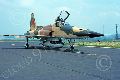 F-5Forg 00063 Northrop F-5E Freedom Fighter Morracan Air Force 91933 August 1981 via African Aviation Slide Service