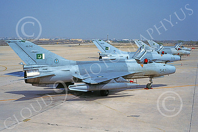 Chengdu F-7 00015 A static Chengdu F-7 Pakistani Air Force 542 8-2002 military airplane picture by Rogier Westerhuis
