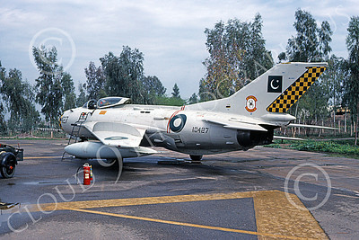 Shenyang F-6 00001 A static bare metal Shenyang F-6 (MiG-19) Pakistani Air Force 10427 3-1981 military airplane picture by Geoffrey B Rhodes