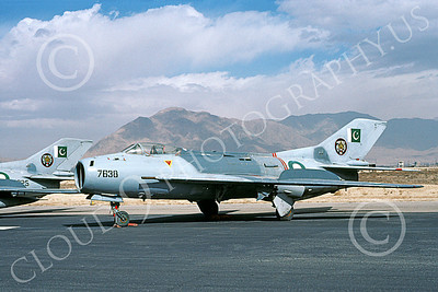 Shenyanag F-6 00009 A static Shenyang F-6 (MiG-19) Pakistani Air Force 7638 2-2000 military airplane picture by Keith Woods