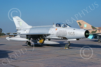 Chengdu F-7 00013 A static Chengdu F-7 Pakistani Air Force 8-2002 military airplane picture by Rogier Westerhuis