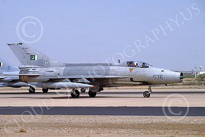 Chengdu F-7 00016 A taxing Chengdu F-7 Pakistani Air Force 09536 2-1999 military airplane picture by Rogier Westerhuis