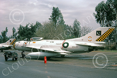 Shenyang F-6 00003 A static bare metal Shenyang F-6 (MiG-19) Pakistani Air Force 10437 10-1981 military airplane picture by Geoffrey B Rhodes