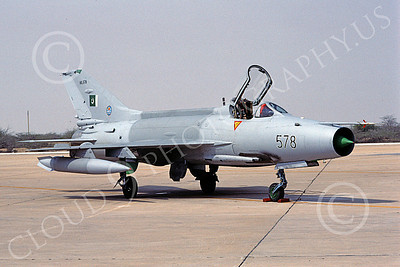 Chengdu F-7 00019 A static Chengdu F-7 Pakistani Air Force 90578 8-2002 military airplane picture by Rogier Westerhuis