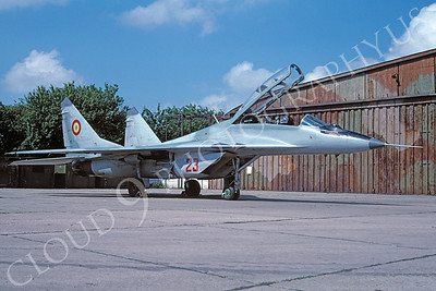 Mikoyan-Guryevich MiG-29UB Fulcrum 00037 Mikoyan-Guryevich MiG-29UB Fulcrum Romanian Air Force 23 via African Aviation Slide Service